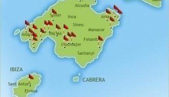 golf course map in Majorca